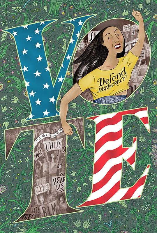 Whitney Sherman: Vote - Defend Democracy