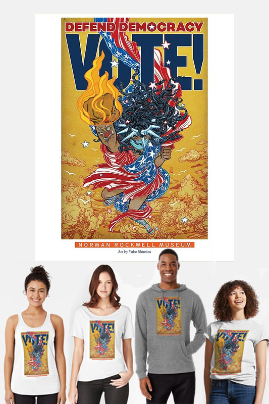 Yuko Shimizu Defend Democracy (Lady Liberty) Apparel